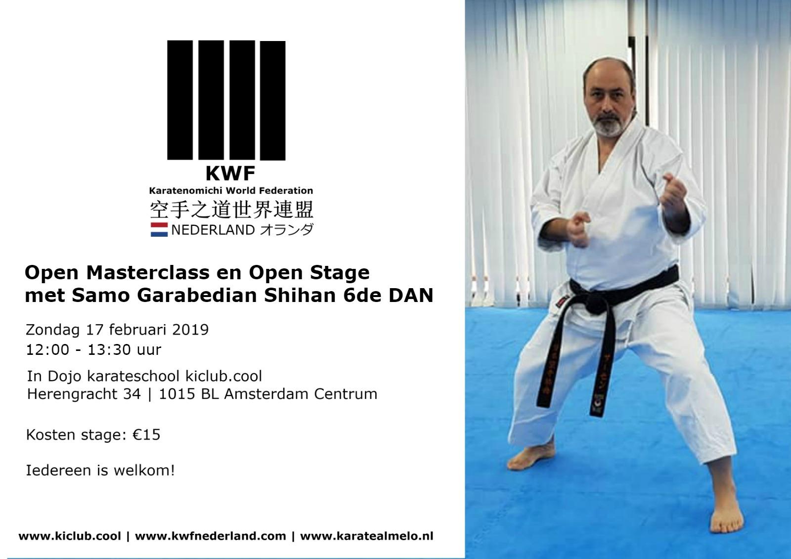 masterclass ki club.cool Eerste KWF stage met Samo Garabedian-KWF-logo ki-club-cool-Amsterdam-Monnickendam bezorgd door karateschool ki club.cool in Amsterdam Centrum en Monnickendam voor traditioneel Shotokan karate-do