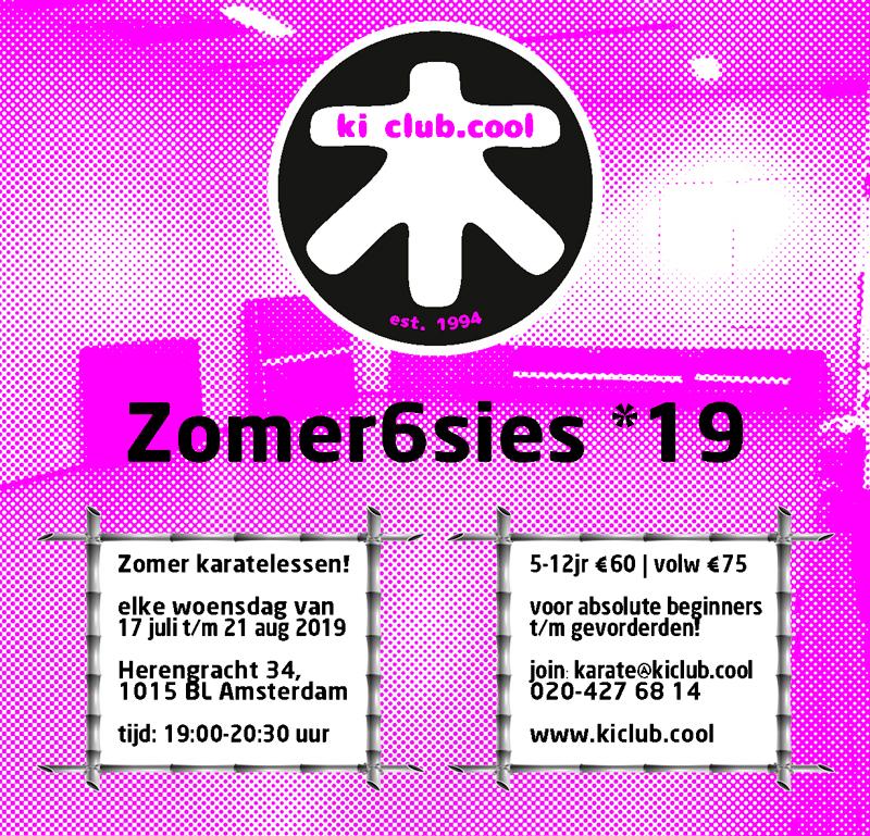 Zomer karate programma [*2019]-karate summer school organized by Amsterdam karate school ki club.cool Amsterdam - experienced intructors Thérèse Zoekende, Patrick Koster - karate amsterdam - karate - ki - shotokan